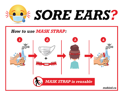 MSB Industries Mask Accessory how to use instruction card